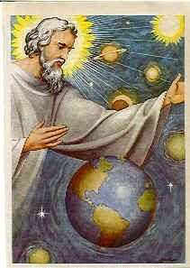 This image shows that God created the universe and he is still looking over it. Catholic Pictures, Jesus Pictures, Jesus Art, Jesus Christ, Genesis Creation, Father Son Holy Spirit, St Therese Of Lisieux, Biblical Art, God Loves You