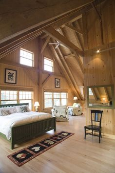 wood bedroom!