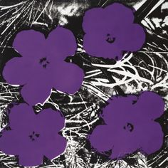 Flowers, c.1965 (4 purple) Posters van Andy Warhol - bij AllPosters.be