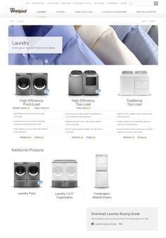 Whirlpool Website Redesign by Brad Williams, via Behance