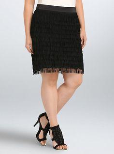 d6fb3ab2d21 Allover Fringe Mini Skirt. Evening SkirtsJean SkirtPlus Size ...
