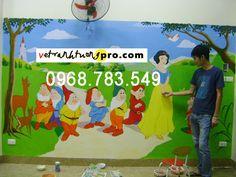Vẽ tranh tường mầm non tại Hà Đông đẹp, rẻ