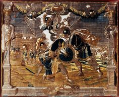 Tapestry with Achilles defeating Hector by Anonymous from Flanders after Peter Paul Rubens, before 1670 (PD-art/old), Muzeum Sztuk Użytkowych w Poznaniu