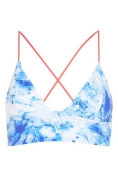 Marble Reversible Bikini Crop Top