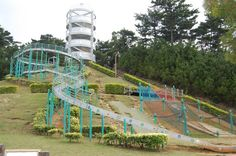 Tobaru Koen Park...we had so much fun...we weren't fans of all the steps to get back up though..lol