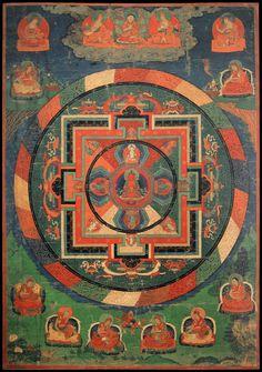 Tibetan Art, Buddhist Art, Himalayan, Mandala Art, Sacred Geometry, Buddhism, Karma, Mystic, Abstract Art