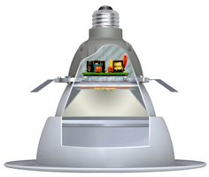 Technical improvements in LED light arrays mean lamps can crank out more light per watt, making them more competitive with incumbent technologies for commercial customers. Sustainable Engineering, Lightbulb, Downlights, Technology, Led, Lighting, Sweet, Tech, Candy