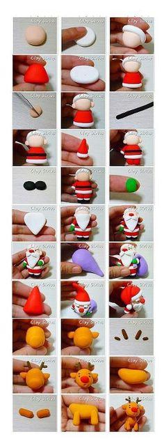 Santa reindeer topper