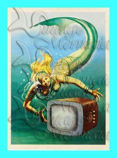 Pinup Mermaids s332 PINUP MERMAIDS by wwwvintagemermaidcom on Etsy, $7.00
