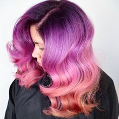 Dessert Anyone? Sweet color melt confection by @larisadoll hotonbeauty.com pastel hair color rainbow hair