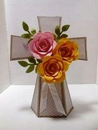 Peanuts and Peppers Papercrafting: Try It Thursday - Stampin' Up! Spiral Flower Easter Cross