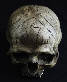 Human Skull Dayak