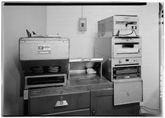 A photograph of a Xerox machine. 2. Xerox Model D copier, one of the first production units. Still in use in 1985 - Battelle Memorial Instit...