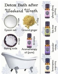 Detox Bath Detox bath recipe for any fragrance lovers mix and match Homemade Beauty, Diy Beauty, Beauty Hacks, Beauty Advice, Beauty Care, Diy Spa, Cold Home Remedies, Natural Remedies, Health And Beauty Tips