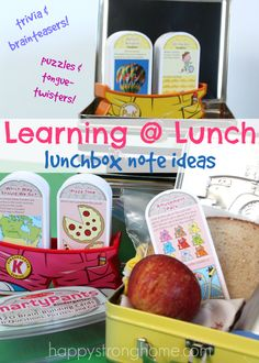 Packing lunches for the kids can become routine… perhaps even a little, dare-I-say… boring? Time to change it up a little! You may not be able to switch your child's foods because of allergies, school rules, or their specific likes and dislikes. So I have another Lunchbox Notes idea for you to try out this month! Time to change it up a little. *Love this idea