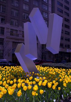 Park Ave., New York City, Public Art. Wouldn't be the same without the tulips.