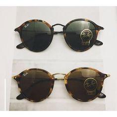 Óculos De Sol Rayban Ray Ban Fleck Rb2447 Redondo Original - R$ 150,00 no MercadoLivre