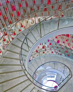 Decorated balustrade on spiral stair
