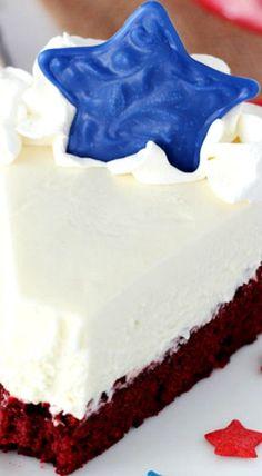 Red Velvet Blondie Cheesecake