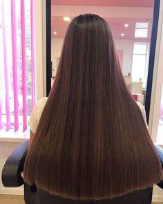 Long Dark Hair, Long Curly Hair, Long Hair Cuts, Curly Hair Styles, Beautiful Long Hair, Gorgeous Hair, Permed Hairstyles, Straight Hairstyles, One Length Hair