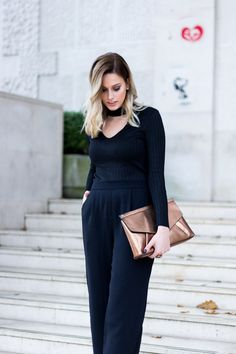 All black outfit. All Black Outfit, Jumpsuit, Chic, Outfits, Dresses, Style, Fashion, Overalls, Shabby Chic
