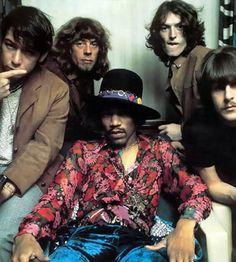 Jimi Hendrix, Eric Burdon, John Mayall, Steve Winwood, Carl Wayne