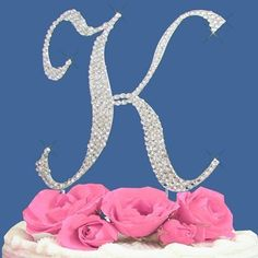 Fully Covered in Crystal Monogram Wedding Cake Topper Letter - Letter K => Awesome product. Click the image at  : baking decorations