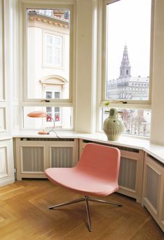 Pink chair, home decor