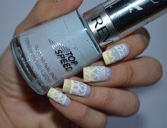 I'm might be unpretty but at least I'm well polished   A nail art blog. #nails #nail #nailpolish #nailart #revlon #purple #yellow #white #gradient #patterns