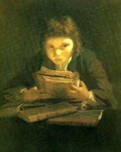 Lezende jongen, door Sir Joshua Reynolds