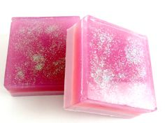 Handcrafted Party Girl Pink Bar  Soap  Natural by velvetbubbles, $4.50