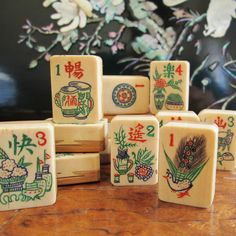 Mahjong Tile Meanings – Part of learning how to play the tile game mahjong is learning the mahjong tile meanings; go to this page to learn more. Mahjong Set, Tiles Game, Classic Board Games, Go Game, True Meaning Of Christmas, Family Board Games, Gambling Games, Asia, Game Pieces