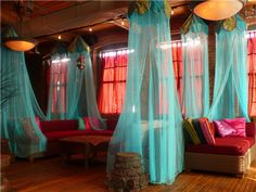 tulle canopies.