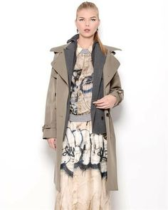 Jean Paul Gaultier Femme Wool Trench Coat- Made in Italy