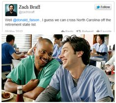 Turk (Donald Faison) and J.D. (Zach Braff