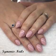 Beautiful bridal Style manicure using a blend of Ibd Just Gel Polishes. This pale, pastel pink manicure on almond shaped sculptured acrylic nails is the perfect balance of nude and pink to bring that added warmth to complement this ladies skin tone x