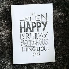 Another little card and some more hand type. Love it! This one was for the wonderful and beautiful @helen_hird One of the very very best humans <3  Email me on info@emilyjanedesign.co.uk if you have any typography/illustration/graphic design work you might like me to take on. I would love to hear your ideas x  #design #graphicdesign #typography #type #font #lettering #text #drawing #handtype #freelance #goodtype  #typematters #typeface #unique #calligritype #typespire #dailytype #typematters…