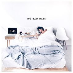 no bad days Minimal Bedroom Design, No Bad Days, Swedish Design, Breakfast In Bed, Cozy Blankets, Small Rooms, Decoration, My Room, Relax