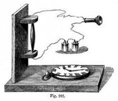 TELEFONUL CU BOBINA DE INDUCTIE. În anul 1878 perfecționează telefonul lui Alexander Graham Bell (amplifică vocea cu ajutorul curenților de inducție) și, folosind microfonul inventat de Hughes, brevetează telefonul cu bobină de inducție și microfon cu cărbune, căruia îi adaugă apoi soneria electrică de apel.