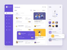Finally returning to explore. Today I present an Event Dashboard. The event dashboard is a dashboard designed to help people manage their events.Do you have a project you'd li. Digital Dashboard, Web Dashboard, Ui Web, Dashboard Design, Dashboard Interface, Design Web, App Ui Design, Page Design, Flat Design