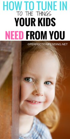 Figuring out your child's needs is a difficult task as a parent. But, if you can really tune in to what is going on around, you or really pay attention when your kids are acting out, you might find that what they need is just a little more connection from