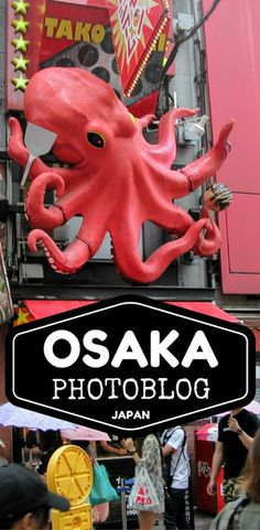 """Osaka is famous for not only it's huge selection of restaurants and bars, but also the large animated statues that dot the side of buildings. Did you know what Osaka's motto is """"Drop Till You Drop""""? The selection of food is so vast that you will never get bored. If you haven't already visited Osaka, Japan then you should really add that to your list of must-dos. Pin for travel inspiration!"""