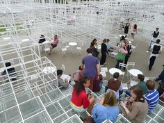 Serpentine Pavilion - a great interactive space again this year.....