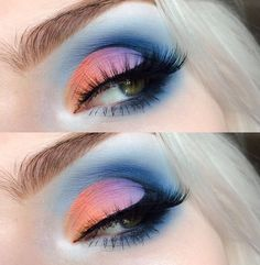 Pastel sunset cut-crease make-up by beautsoup
