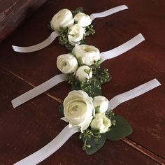 ranunculus bulbs how to plant Mother Of Bride Corsage, Wrist Corsage Wedding, Wedding Bouquets, Mother Of The Bride Flowers, Prom Flowers, White Wedding Flowers, Floral Wedding, Wedding Greenery, Prom Corsage And Boutonniere