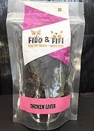 Fido & Fifi - Guelph Ontario's number one dog bakery has all the treats your dog could want! Chicken livers are a great training treat, are low in fat and high in protein. All of our dried meat products are local to the Guelph area #dog #dogtreats #guelph #ontario #canada #chicken #liver #fidoandfifi #forsale #meat #dehydrated #driedmeat #stjacobs
