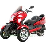 MC-G10 150cc Trike Scooter with Automatic Transmission, Windshield!