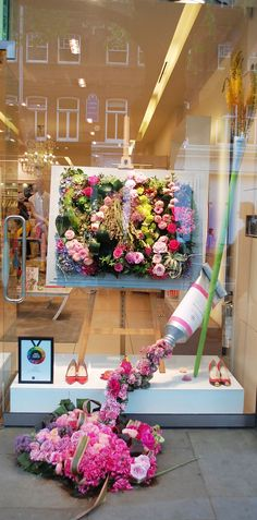 Next theme: Window display design Visual Merchandising Displays, Visual Display, Deco Floral, Arte Floral, Vitrine Design, Store Window Displays, Display Windows, Spring Window Display, Retail Displays