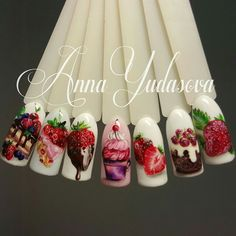 Strawberry nails