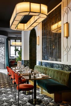 32 The Best Art Deco Interior Design Ideas Deco Restaurant, Restaurant Interior Design, Commercial Interior Design, Commercial Interiors, Modern Interior Design, Interior Design Inspiration, Interior Architecture, Contemporary Interior, Luxury Interior